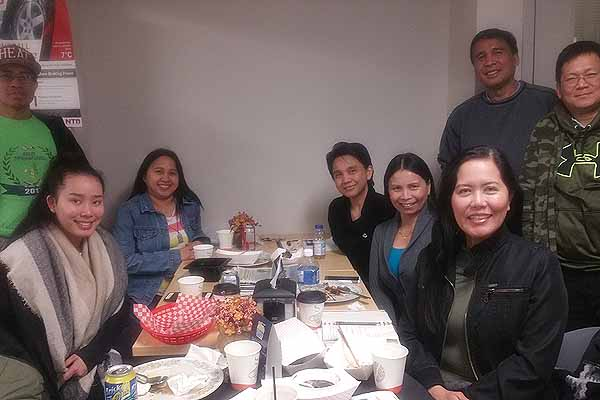 Monthly Meeting of Solid Mindanaoans of Manitoba at Hot Rod Grills