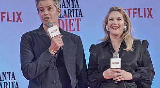 Drew Barrymore, Timothy Olyphant visit PH