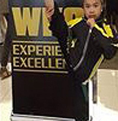 Miley Carino getting ready for World Karate Chmpionship in Dublin, Ireland