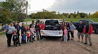 Filipino Anglers clean up Red River shoreline in Selkirk