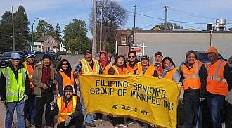 Filipino Seniors Group of Winnipeg and Christ the Saviour Christian Church 2nd annual street cleaning project