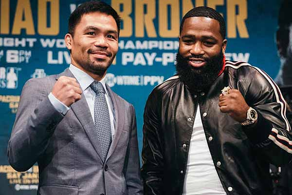 The first major boxing event of 2019 Manny Pacquiao vs. Adrien Broner