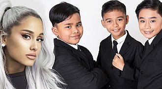 Ariana Grande surprises TNT Boys