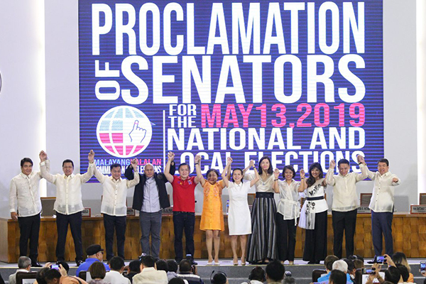 Go, Bato, other winning Senators proclaimed,