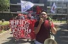 UPLB students stage walkout protest