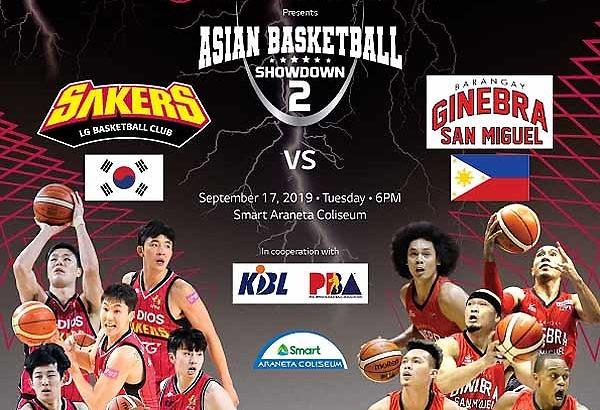 Barangay Ginebra to face Korean team in Asian Basketball Showdown