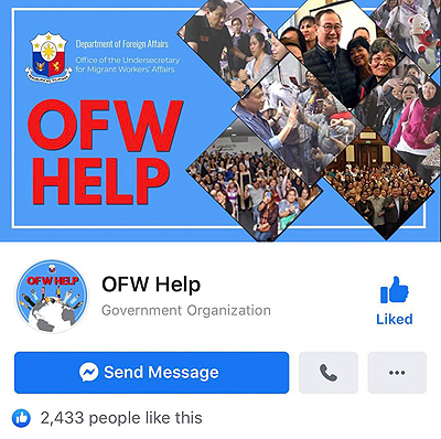 'OFW Help' is now on Facebook
