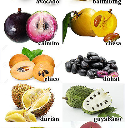 Some Philippine Fruits & Their English Names