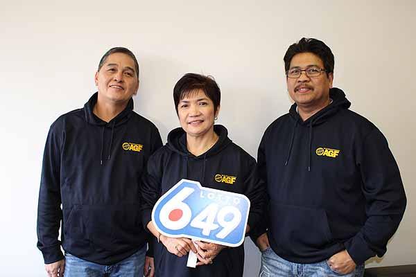 Winnipeg trio share $1 million LOTTO 6/49 prize