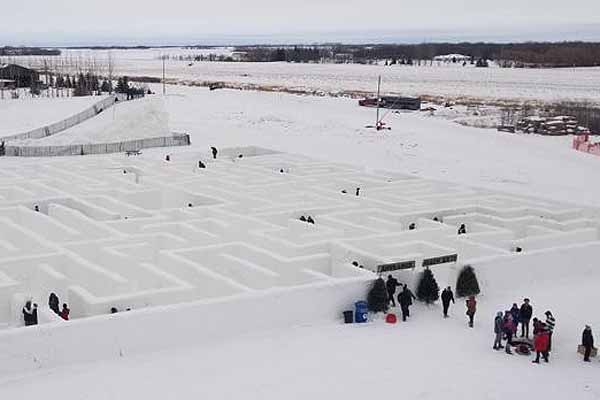 Snow maze is now open