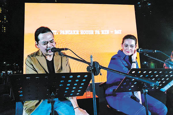 Outdoor script reading event with Bea, Lloyd brings to life indie blockbuster