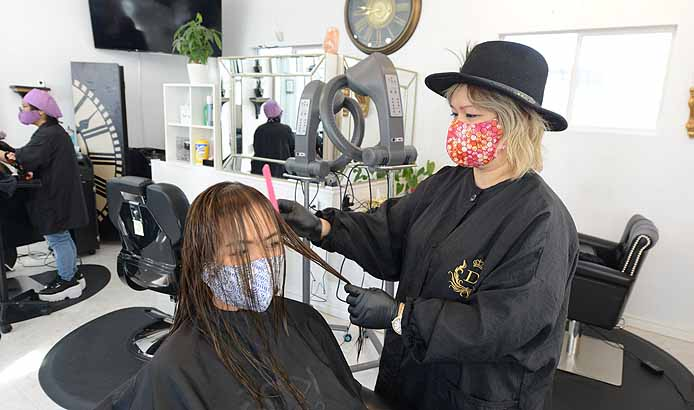 HAIR SALON RE-OPENS WITH SOME NEW NORMAL