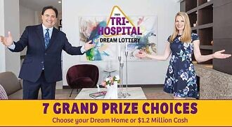 Get your tickets now for the 2020 Tri-Hospital Dream Lottery