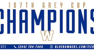 Blue Bombers Launch 107th Grey Cup Champions licence plates