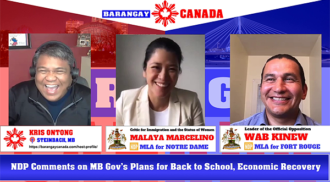 MB Opposition Comments on School Reopening, Economic Recovery Program