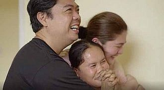 Dimples Romana and husband surprise househelp with a brand new townhouse