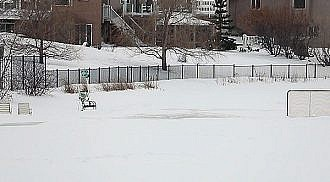 Don't use retention ponds for winter recreation activities