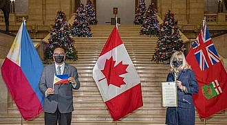 Manitoba is the first Province of Canada to issue a Proclamation on the Quincentennial Commemorations of the Philippines
