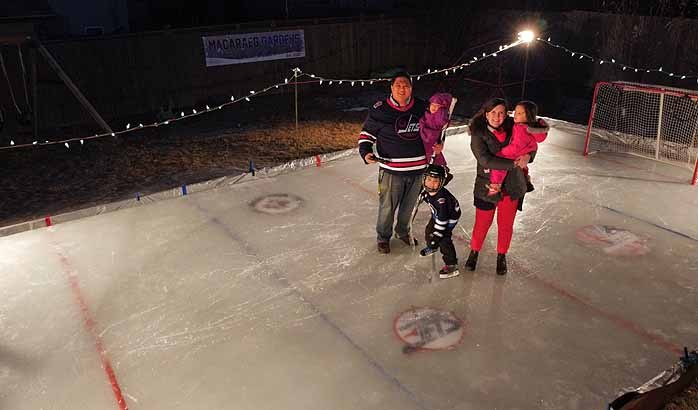 Outdoor Hockey Rinks Booming