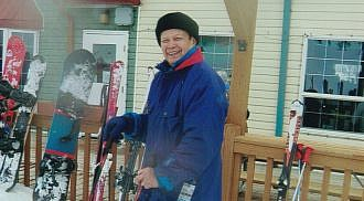"Pandemic Alpine Skiing In ""Mani-Snow-Ba"""